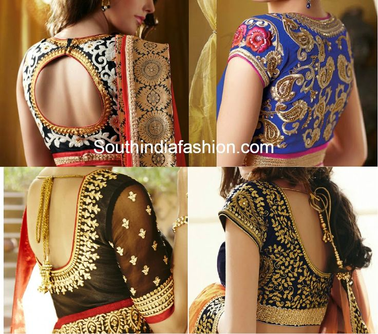 thread work blouse designs