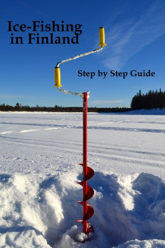 Step by step guide to ice-fishing in Finland
