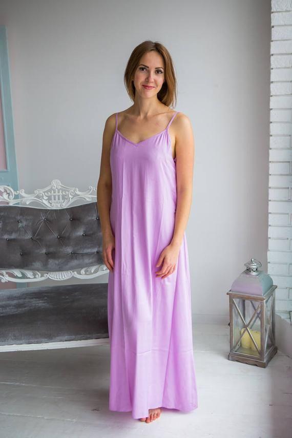 buy popular 66be1 4c062 Lange feste Pastelle Nachthemden für jede Frau liebt einen ...