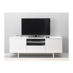"""possible changing table MOSTORP TV unit, white - 62 5/8x18 1/8 """" - IKEA"""