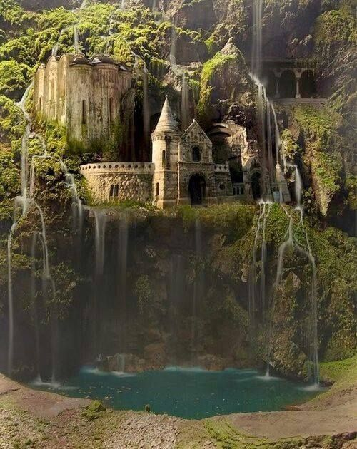 Waterfall Castle in Poland.