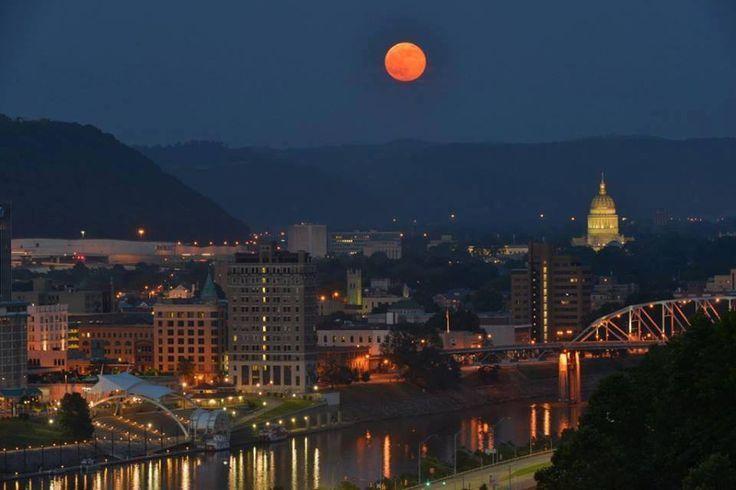 Super Moon Over Charleston West Virginia West Virginia