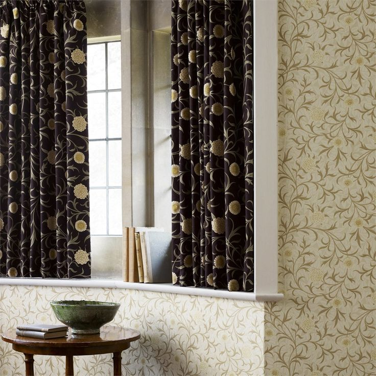 William Morris Scroll Fabric from the Morris & Co Archive Prints Collection at British Wallpapers