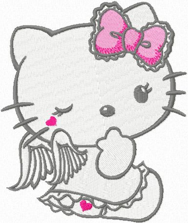 hello kitty angel images | Hello Kitty Angel 1 machine embroidery design