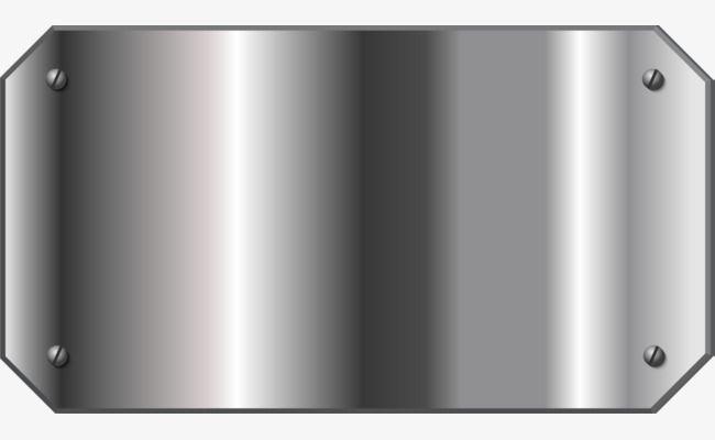 Metal Texture Plate Signs Steel Plate Metallic Feel Silver Plate Png And Vector Metal Texture Steel Plate Plate Png