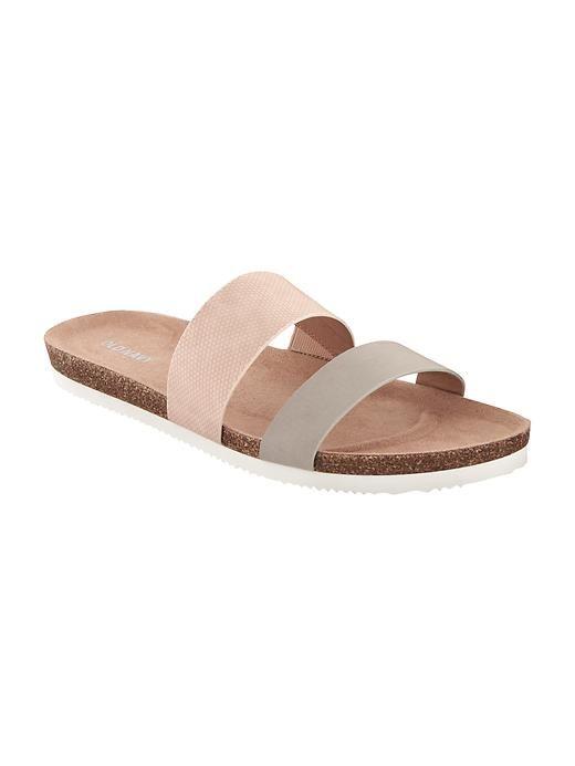 398dfb0b483b Textured Slip-On Cork Sandals for Women