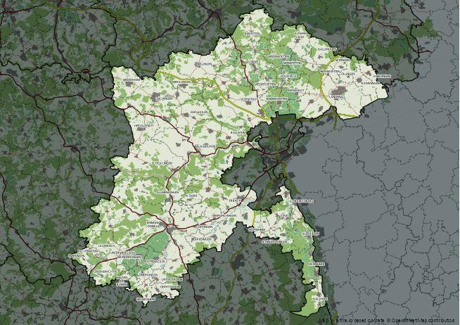 Straßenkarte von Alb-Donau-Kreis