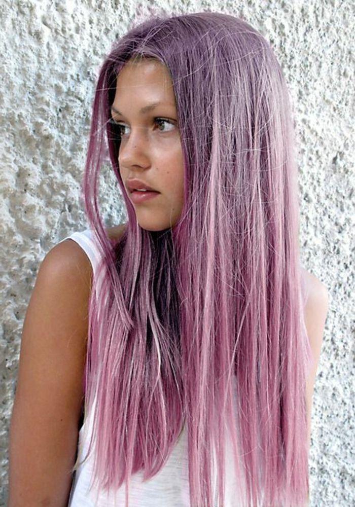 coloration violette couleurs de cheveux extravagantes - Eclaircir Cheveux Noir Color