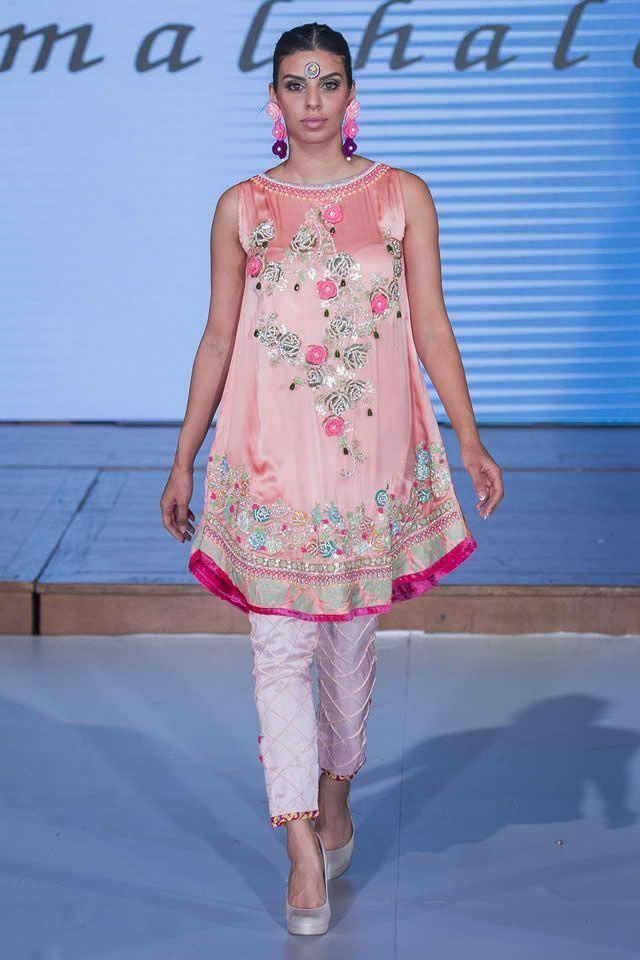 Famous fashion designer Somal Halepoto showcased collection at Pakistan Fashion Week 8 London 2015.