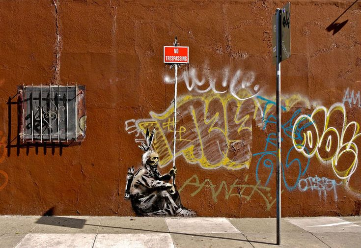Banksy art in San Francisco...politically inspired, amazing, thought-provoking graffiti...