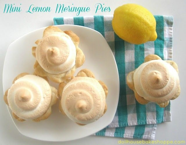 Lindsay Ann Bakes: Individual Mini Lemon Meringue Pies {Small Batch - Yield 6 mini pies}