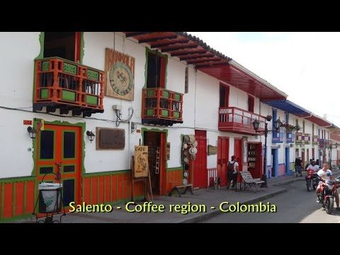 Salento, coffee region Colombia, an oasis in the midst of nature in HD - YouTube