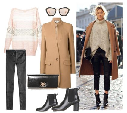 winter Casual Style / Camel Coat & Leather pants by Josefinaelizalde on Set That -