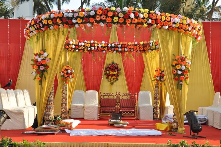[11] Indian Wedding Mandap Decoration Traditional
