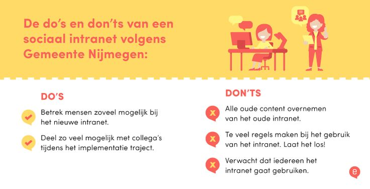 insite de gemeente nijmegen nieuw sociaal intranet - do's en don'ts [infographic]