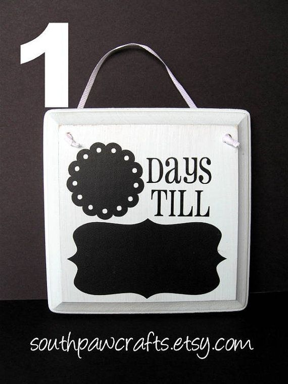 Days till in chalkboard w/ chalkboard vinyl. Great countdown idea for kids to generate excitement for a trip, holiday, etc.