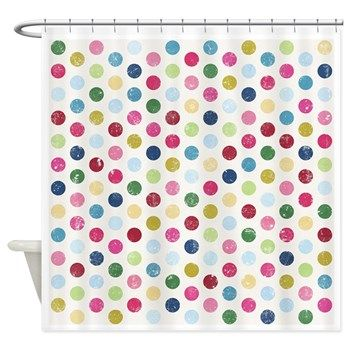 Shouldnt Your Love For Polka Dots Extend Into Bathroom This Shower Curtain Fills That Bill