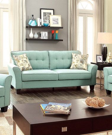 Reclining Sofa Another great find on zulily Blue Contemporary Sofa u Love Seat zulilyfinds