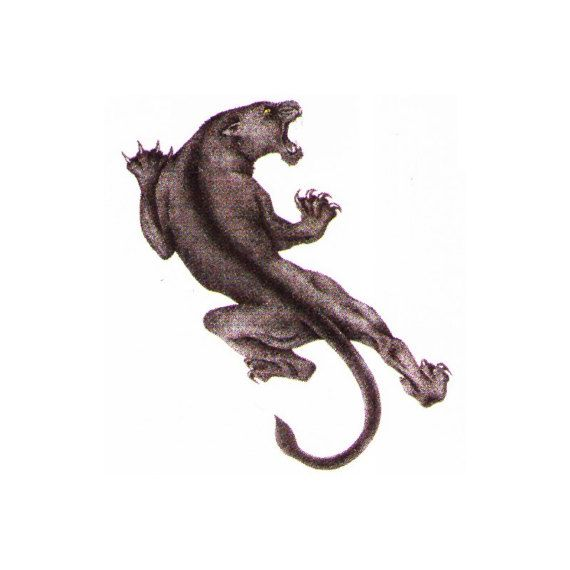 Panther temporary tattoo design art. These temp tattoos are great for parties, events, venues, festivals and much more. All our temporary tattoos are FDA approved and are created with vegetable dyes. They are applied on easily with water and can last up to 2 weeks. They can also be taken off easily with tape or rubbing alcohol.    We carry the best and greatest temporary tattoos and tattoo design art online. Our stock temp tattoos can be purchased online and include designs such as tribal…