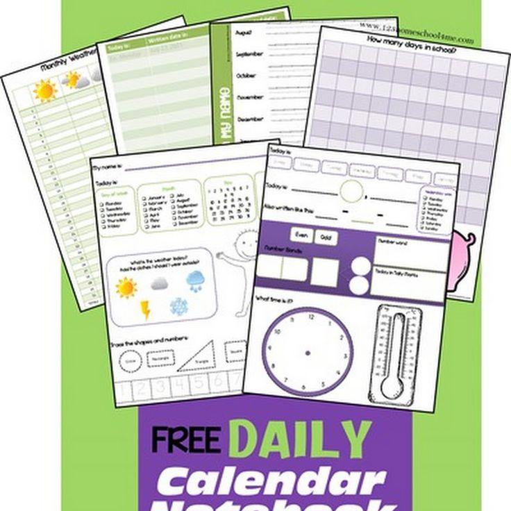 Calendar Notebook Pages