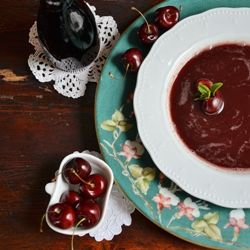 Cold Cherry Soup - looks like something @Kathy Henderson might like!