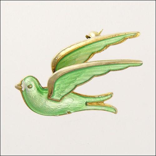 Silver Enamel Bird Brooch/Pin - THEODOR OLSENS EFTF - Norway | eBay