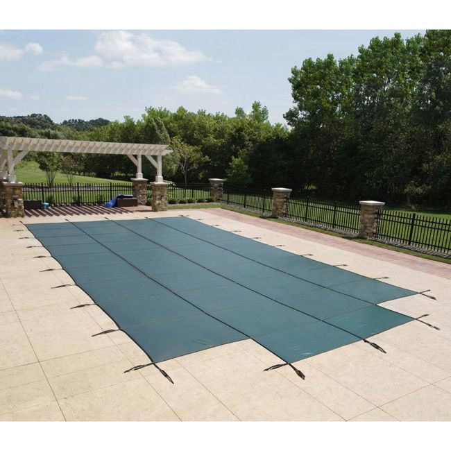 Blue Wave Rectangular In-ground Pool Safety Cover with Center Step