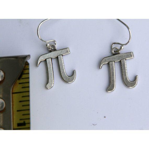 Pi symbol earrings on Etsy, $24.00