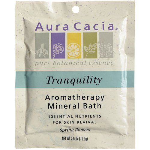 Aura Cacia Tranquility, Aromatherapy Mineral Bath, 16-Ounce Jar (Pack of 2) by Aura Cacia. Save 4 Off!. $22.93. DOUBLE VALUE PACK! You are buying TWO of Tranquility Aromatherapy Mineral Bath 16 oz Jar. Quantity: MULTI VALUE PACK! You are buying Description: MINERAL BATH,TRANQUILITY Unit Size: 16 OZ Brand: AURA CACIA. Aura Cacia blends mineral-rich ocean and desert salts with the benefits of 100% pure essential oils. The result is a natural formula that lifts away old, dead cells, then sof...