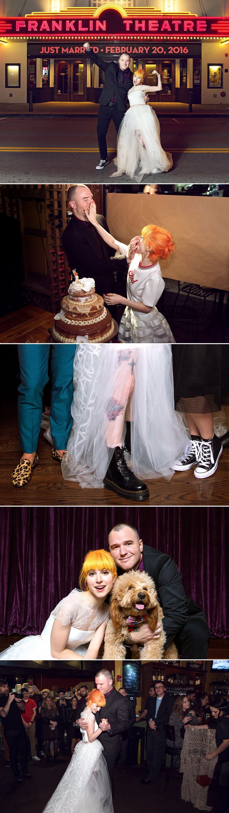 Paramore's Hayley Williams' punk star wedding at The Franklin Theatre // Celebrity wedding inspiration