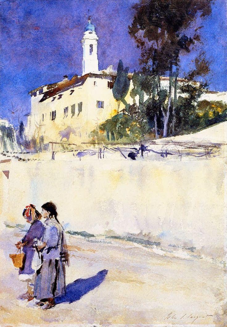 John Singer Sargent 1878-79 Landscape with Two Children