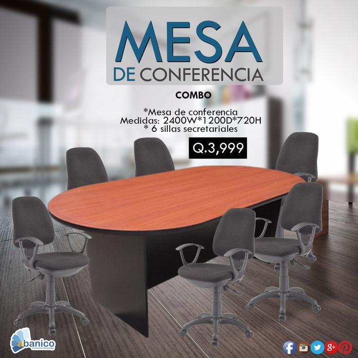 Aprovecha de las mejores ofertas para tu oficina, mesa de conferencia + 6 sillas secretariales Ven y visítanos. Contáctanos al teléfono 2440-1620