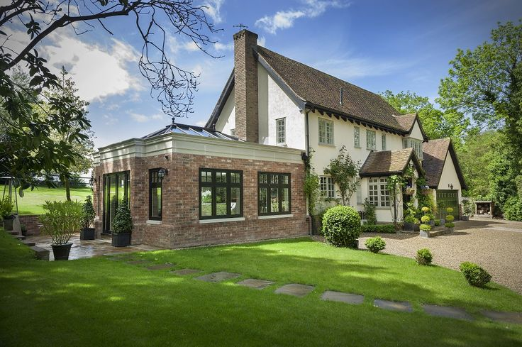 Gorgeous #Residence9 #Orangery from the outside. Unbelievably stylish and luxury addition to your home and a perfect space for socialising. #R9journey #R9 #Windows #Doors #HomeImprovement #Exterior #Design #countryLiving #Luxury