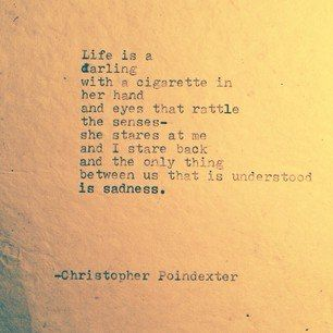 Christopher Poindexter  sadness