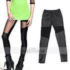 Hot Sexy Schwarz Glänzend Leder Stiefel Legging Leggings Leggins Damen Mode Hose