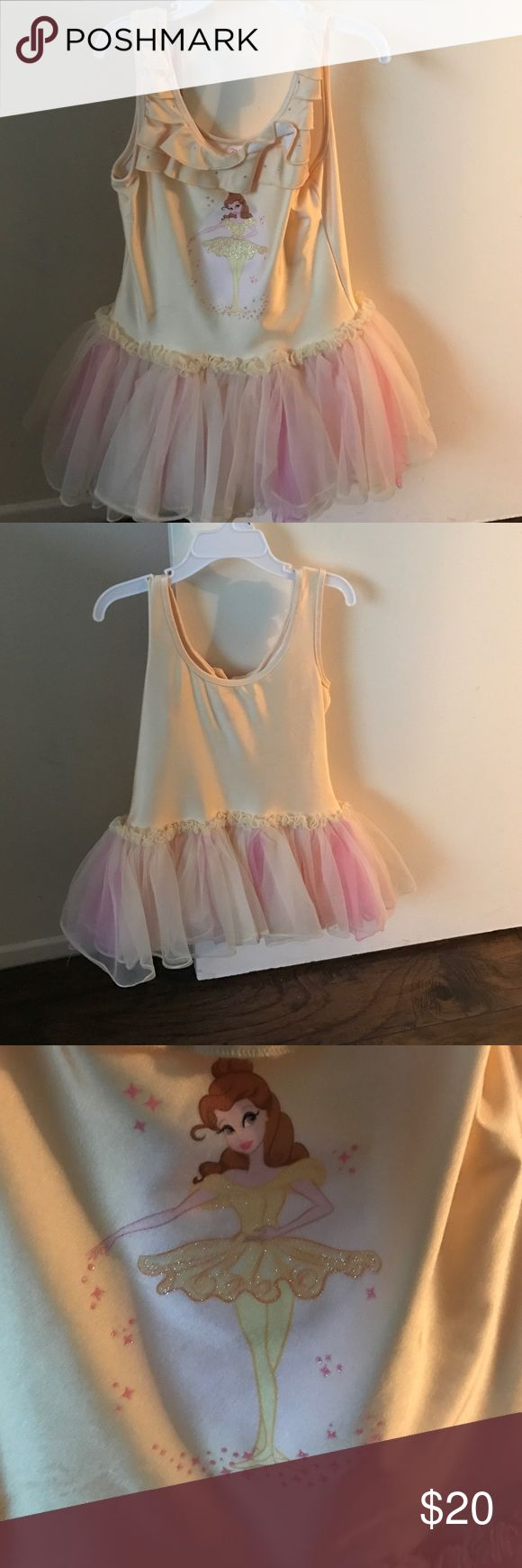 Ballerina tutu in great condition Yellow with pink ballerina tutu. My kid only use it one time great condition. Disney Costumes Dance