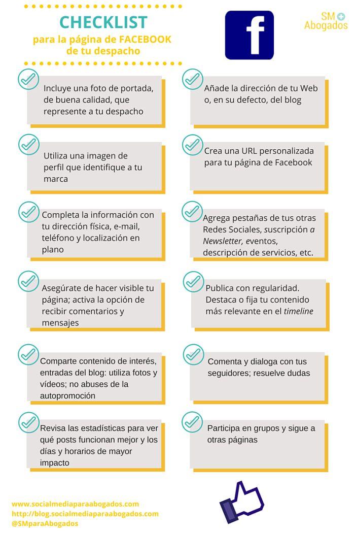 Facebook Para Abogados Checklist Para Crear La P Gina De