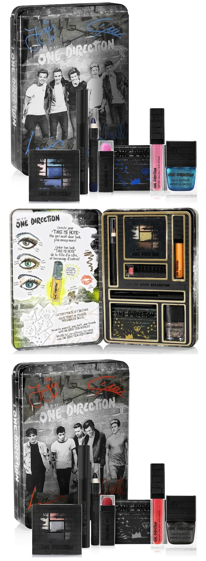 Makeup by One Direction The looks collection via @beautytidbits