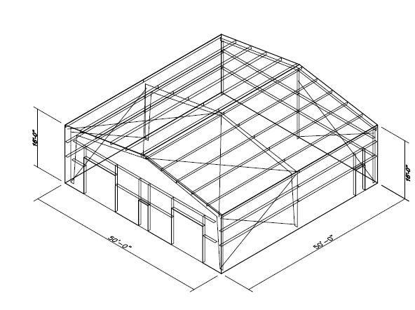 50x50 Metal Building Kit Metal Building Kits Metal Buildings Steel Structure