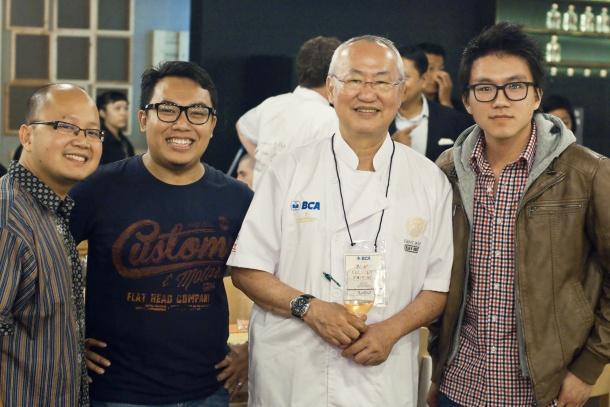 GFGFGL, Me, William Wongso, and Wanderbites (Photo courtesy of Wanderbites)