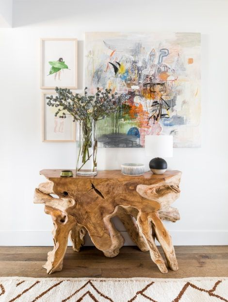 Raw Wood: Everything right now is more about raw textures rather than the super shiny finished look of the past. You will see this trend take shape in furniture, accessories and even cabinetry.
