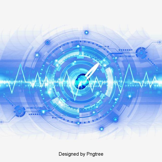 Cartoon Technology Data Interface Decorative Elements Abstract Design Pattern Design Data Patterns