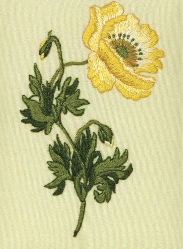 Oriental Poppy Embroidery Kit - Readicut Crafts Online