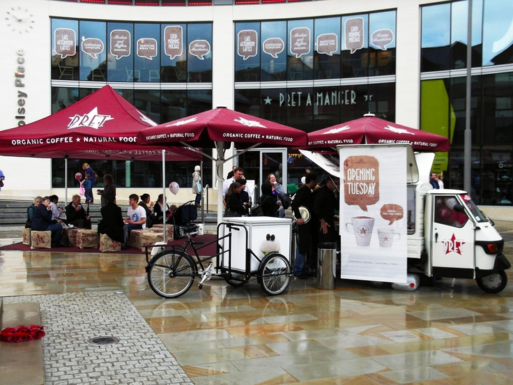 Opening day at Pret #Woking