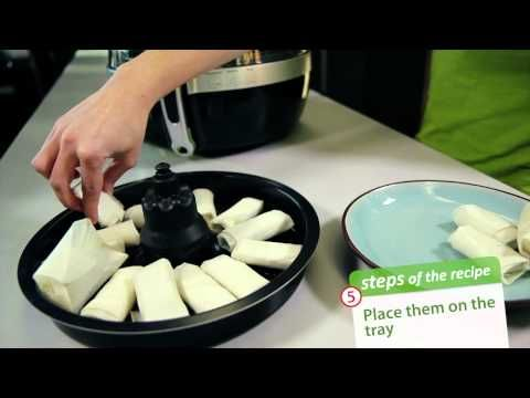 ▶ Banana Compote with Cripsy Chocolate Fingers - step by step in ActiFry 2in1 - YouTube.