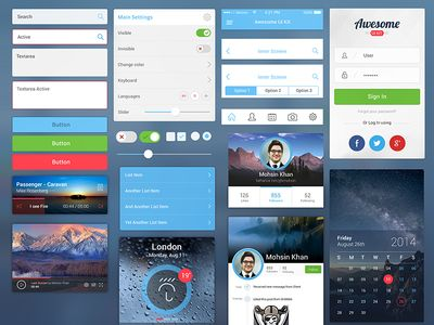 Awesome UI Kit for Mobile
