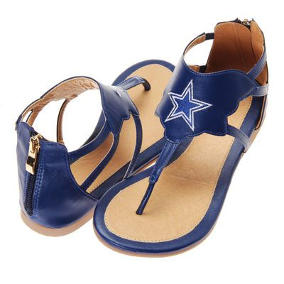 Dallas Cowboys Cuce Women's Gladiator Sandals - Navy