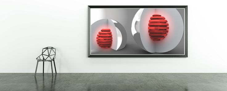 Red Cores by Eric Nagel.  #abstracts #contemporaryart #creative #artlovers #artnews #Home #Decor #Wandgestaltung #Kunst #blue #Art #Bild #wandbild #Galerie #bubble #digital #poster #interior #Design #dekoration #EricNagel #red  #redbubble
