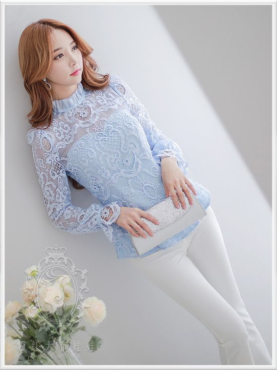 dabuwawa elegant blouses in lace-in Blouses & Shirts from Women's Clothing & Accessories on Aliexpress.com   Alibaba Group