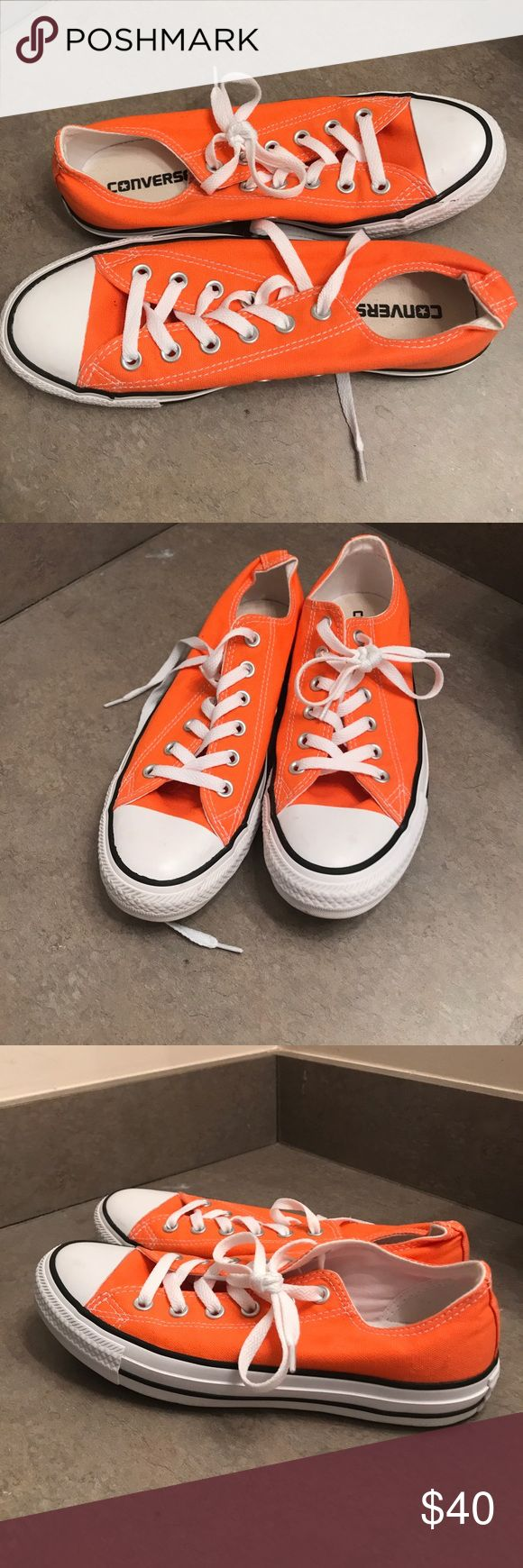 Orange Converse NWOT. Never worn. Orange size 7 men's/ 9 women's converse. Converse Shoes Sneakers